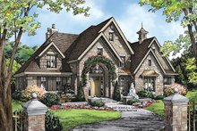 European Exterior - Front Elevation Plan #929-915