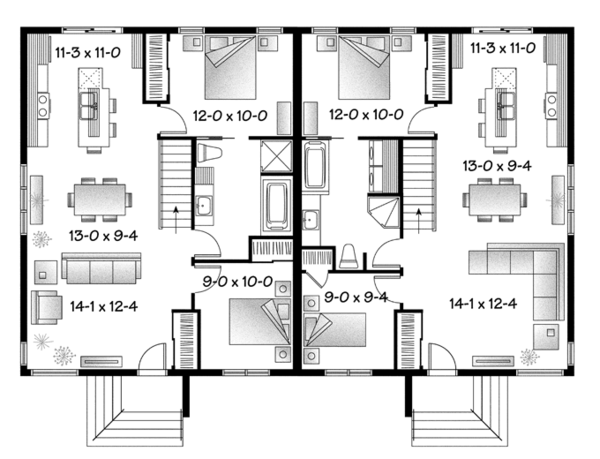 Contemporary Floor Plan - Main Floor Plan Plan #23-2593