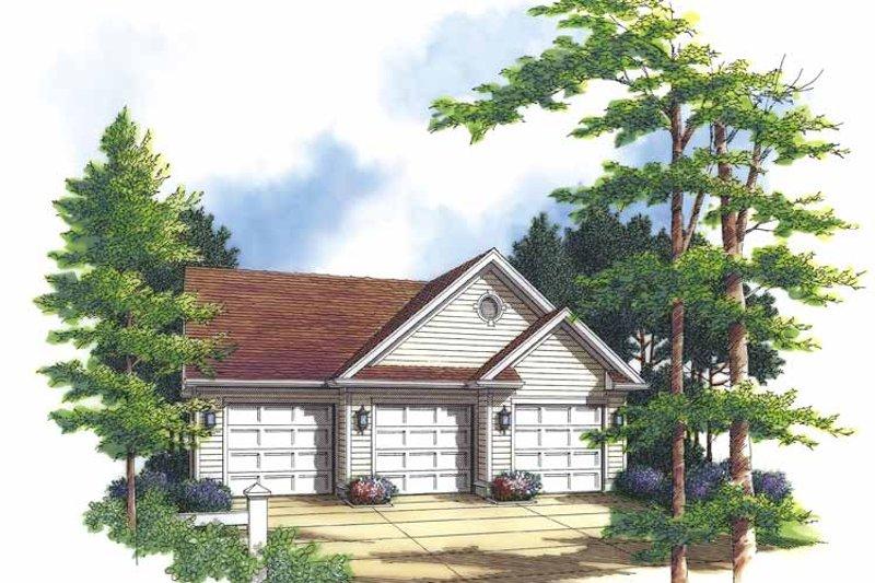 Colonial Exterior - Front Elevation Plan #48-819 - Houseplans.com