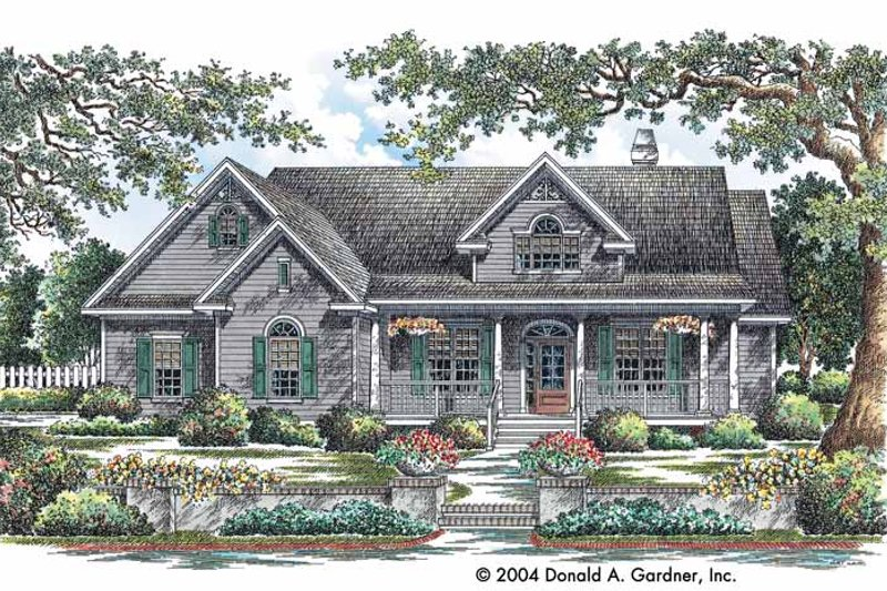 Country Exterior - Front Elevation Plan #929-730