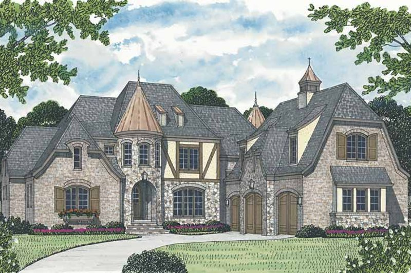 European Exterior - Front Elevation Plan #453-586