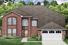 Home Plan - Traditional Exterior - Front Elevation Plan #84-715