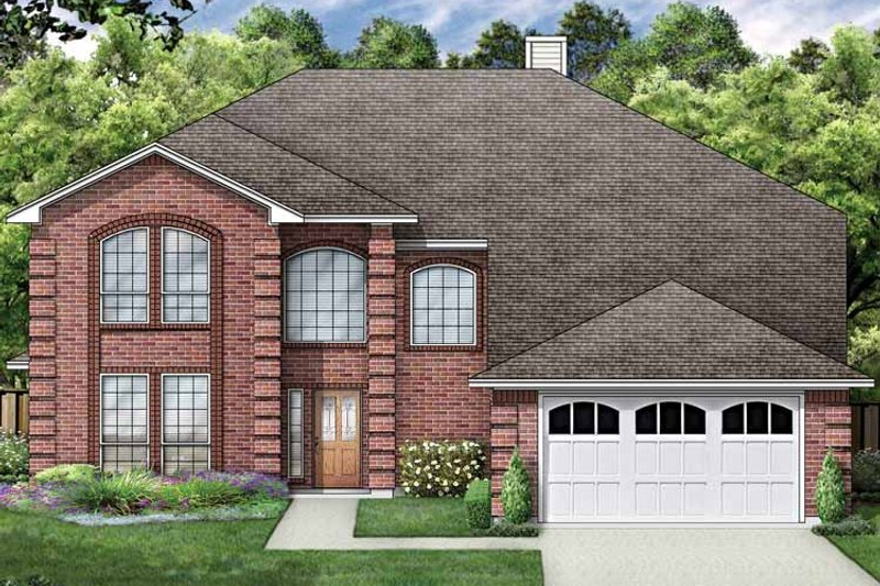Traditional Exterior - Front Elevation Plan #84-715 - Houseplans.com