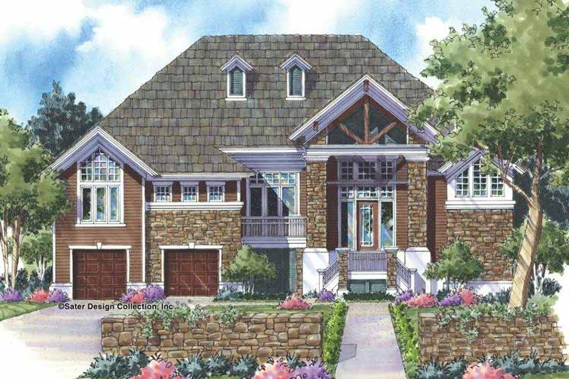 Craftsman Exterior - Front Elevation Plan #930-154