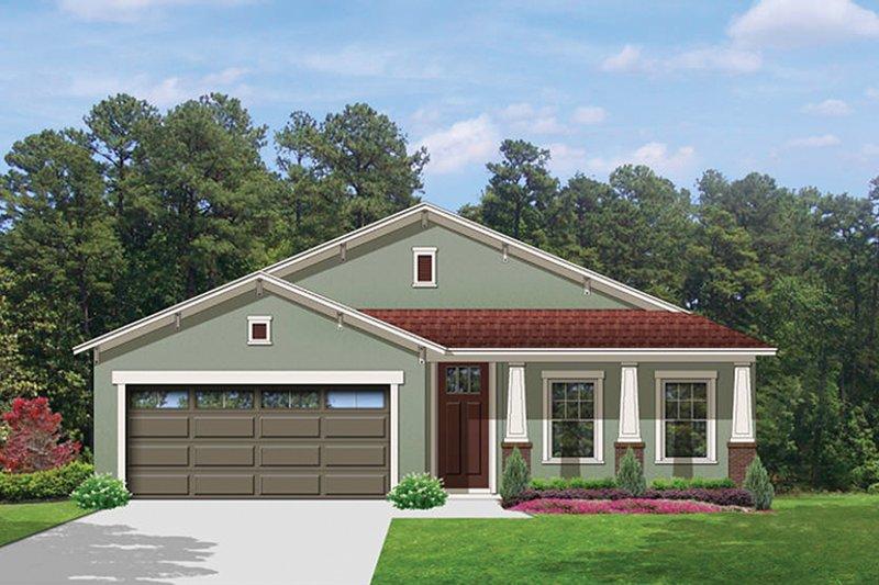 Architectural House Design - Craftsman Exterior - Front Elevation Plan #1058-71