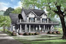 Home Plan - Country Exterior - Front Elevation Plan #17-2674