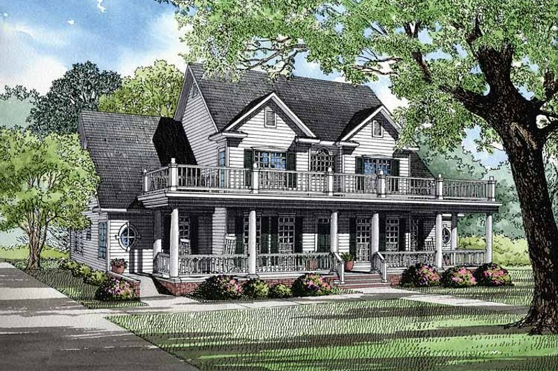 Country Exterior - Front Elevation Plan #17-2674 - Houseplans.com