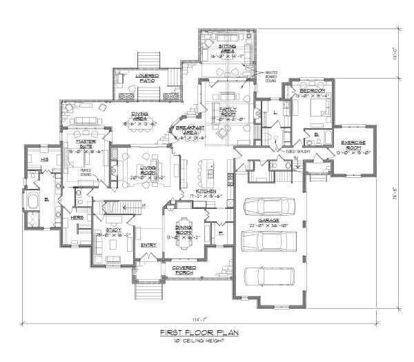 Dream House Plan - European Floor Plan - Main Floor Plan #1054-93