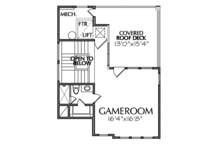 Mediterranean Floor Plan - Other Floor Plan Plan #1021-13
