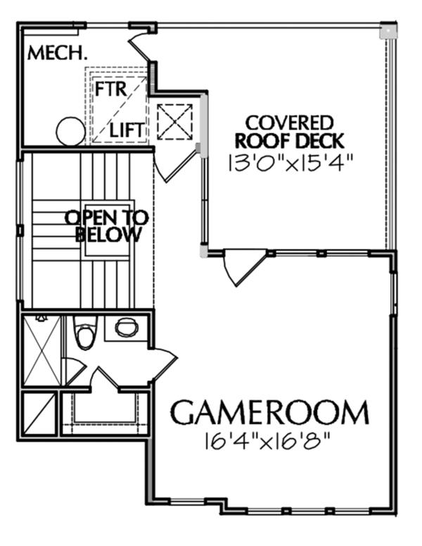 Architectural House Design - Mediterranean Floor Plan - Other Floor Plan #1021-13