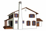 Mediterranean Style House Plan - 4 Beds 3.5 Baths 2865 Sq/Ft Plan #1042-9 Exterior - Other Elevation