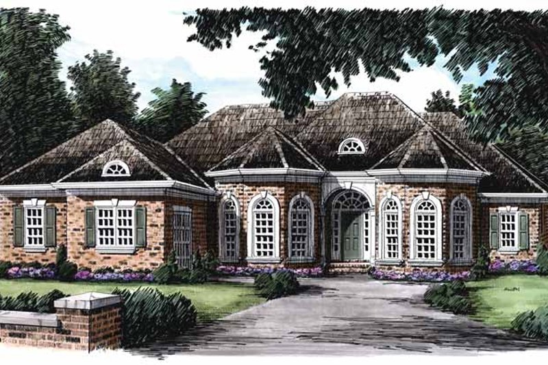 Country Exterior - Front Elevation Plan #927-802