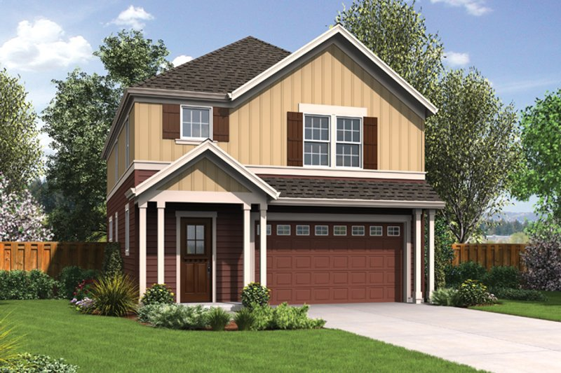 Traditional Exterior - Front Elevation Plan #48-912 - Houseplans.com