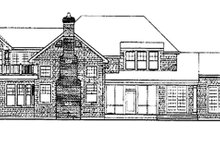 House Plan Design - Craftsman Exterior - Rear Elevation Plan #314-294