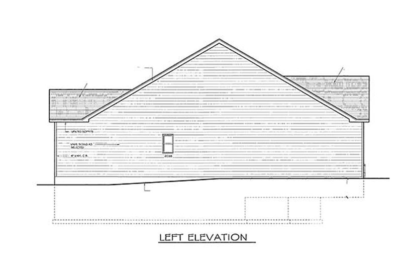 Ranch Exterior - Other Elevation Plan #1010-22 - Houseplans.com
