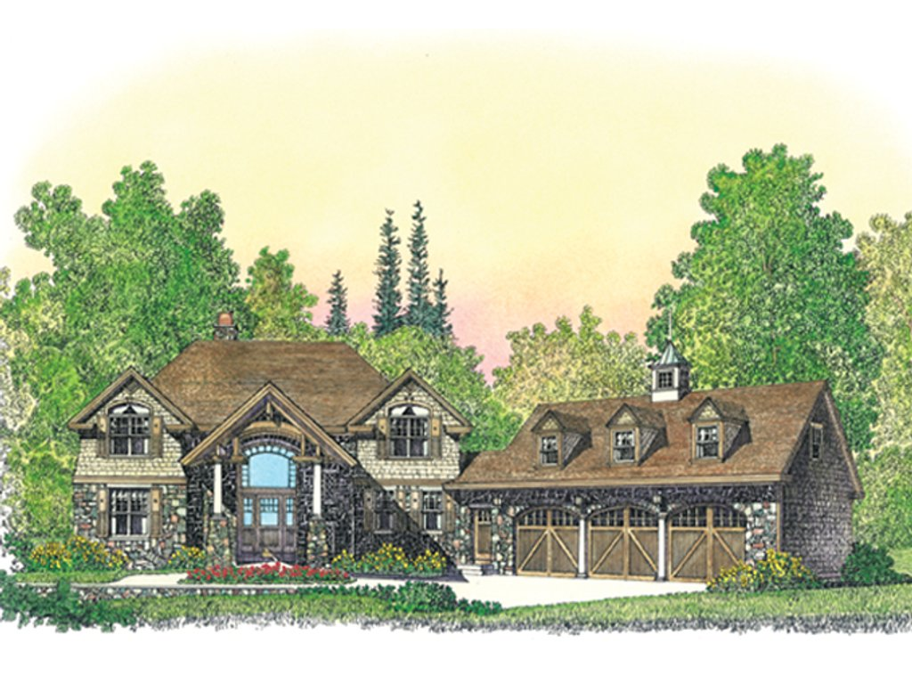 Craftsman style house plan 4 beds 3 baths 3506 sq ft for Craftsman vs mission style