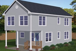 Traditional Exterior - Front Elevation Plan #1061-33