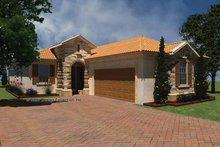 Home Plan - Mediterranean Exterior - Front Elevation Plan #930-425