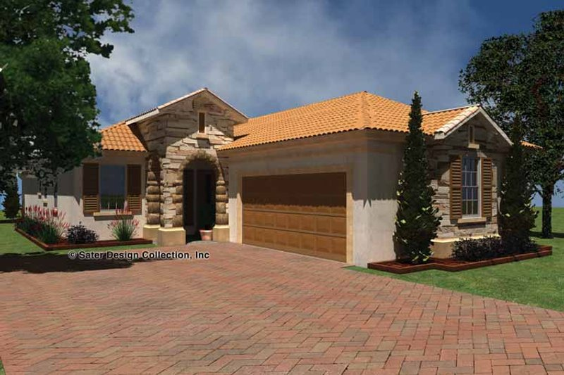 Mediterranean Exterior - Front Elevation Plan #930-425