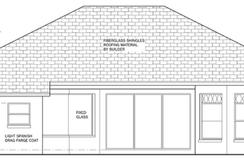 Mediterranean Exterior - Rear Elevation Plan #1058-39 - Houseplans.com