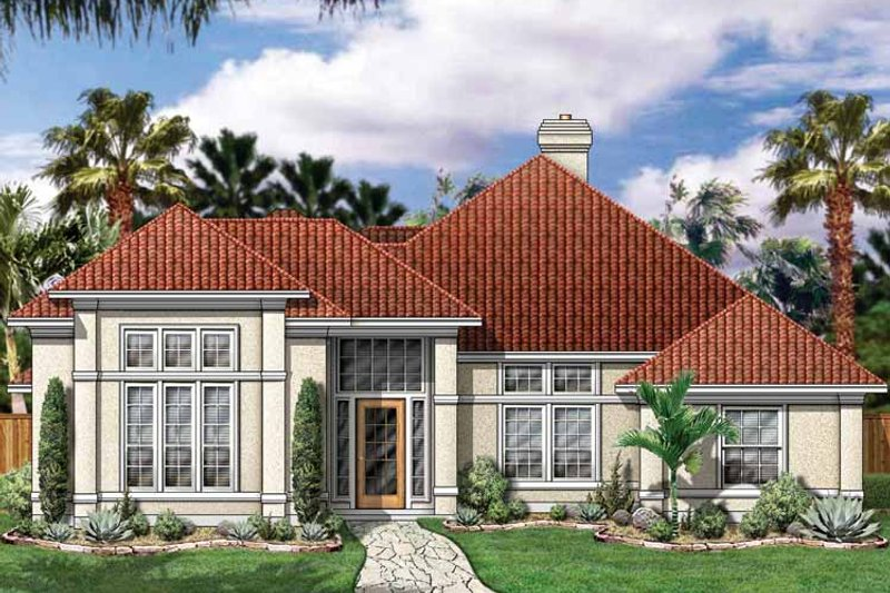 Mediterranean Exterior - Front Elevation Plan #84-701 - Houseplans.com