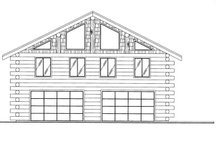 Dream House Plan - Log Exterior - Front Elevation Plan #117-827