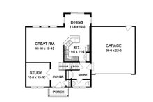 Colonial Floor Plan - Main Floor Plan Plan #1010-116