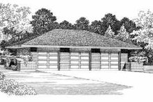 Traditional Exterior - Front Elevation Plan #72-250