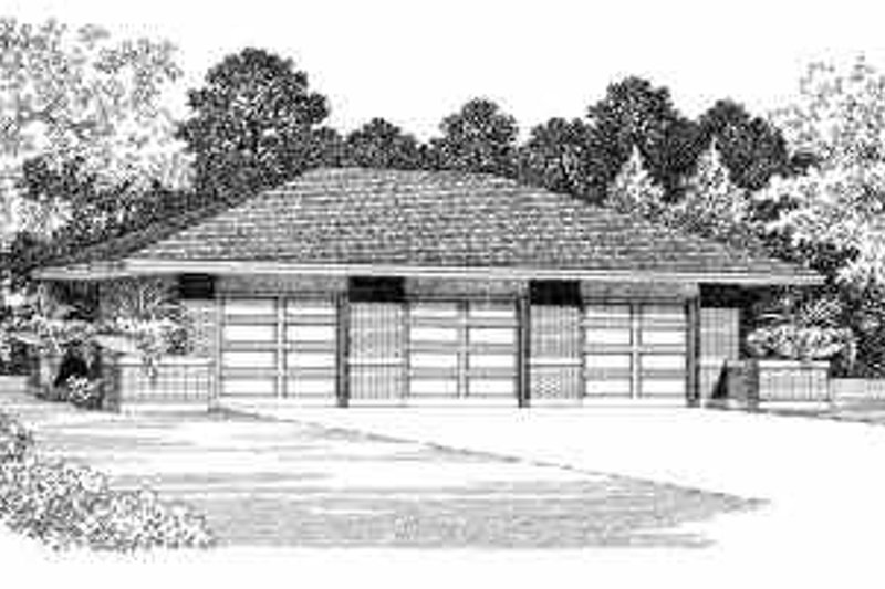 Traditional Exterior - Front Elevation Plan #72-250 - Houseplans.com
