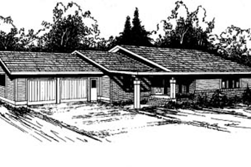 Ranch Exterior - Front Elevation Plan #60-114