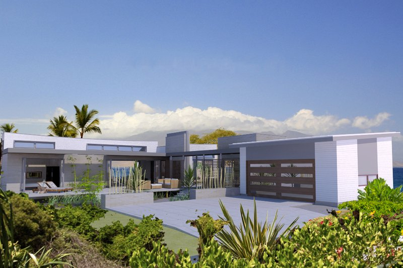 House Design - Contemporary Exterior - Front Elevation Plan #484-7