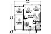 Contemporary Style House Plan - 3 Beds 1 Baths 2156 Sq/Ft Plan #25-4528 Floor Plan - Main Floor Plan