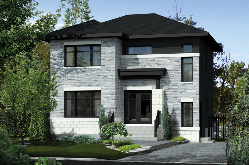 Home Plan - Contemporary Exterior - Front Elevation Plan #25-4278