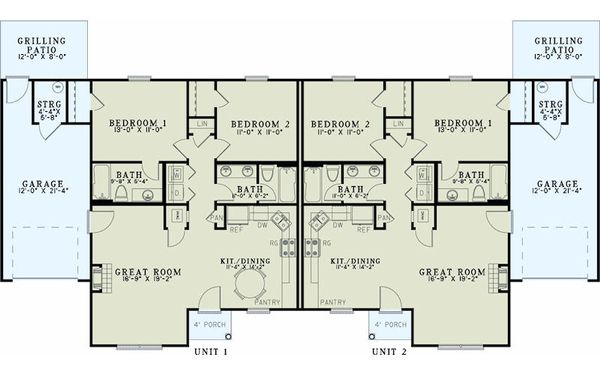 Traditional Floor Plan - Main Floor Plan Plan #17-2433