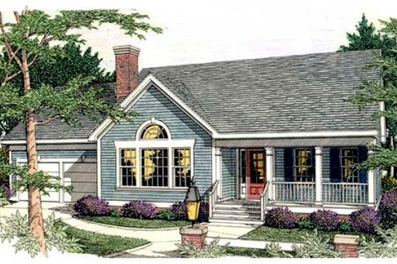 Architectural House Design - Traditional Exterior - Front Elevation Plan #406-246
