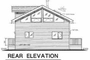 Contemporary Style House Plan - 1 Beds 1.5 Baths 1345 Sq/Ft Plan #18-231 Exterior - Rear Elevation