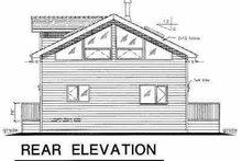 Contemporary Exterior - Rear Elevation Plan #18-231