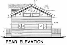 Architectural House Design - Contemporary Exterior - Rear Elevation Plan #18-231