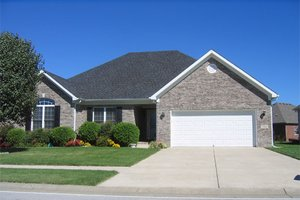 Ranch Exterior - Front Elevation Plan #412-132
