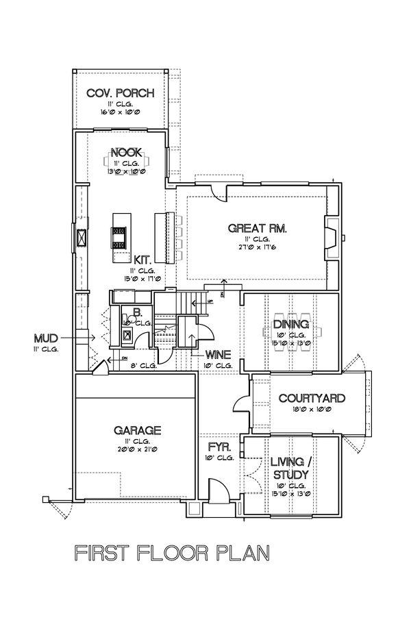 Modern Floor Plan - Main Floor Plan #449-17