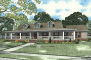 Country Style House Plan - 3 Beds 3 Baths 1921 Sq/Ft Plan #17-235 Exterior - Front Elevation