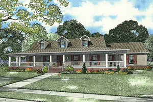 Country style home design, elevation