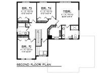 Modern Floor Plan - Upper Floor Plan Plan #70-1466