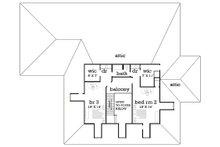 Upper level floor plan - 4000 square foot European home
