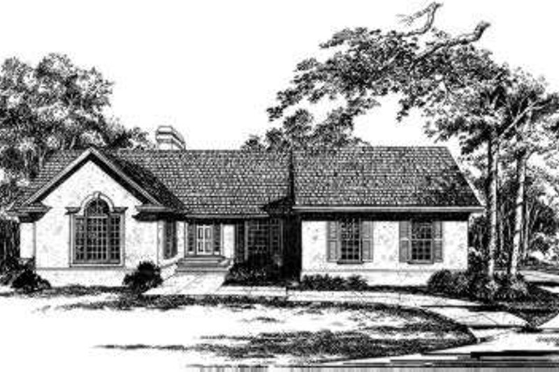 Traditional Style House Plan - 3 Beds 3.5 Baths 3116 Sq/Ft Plan #322-112 Exterior - Front Elevation