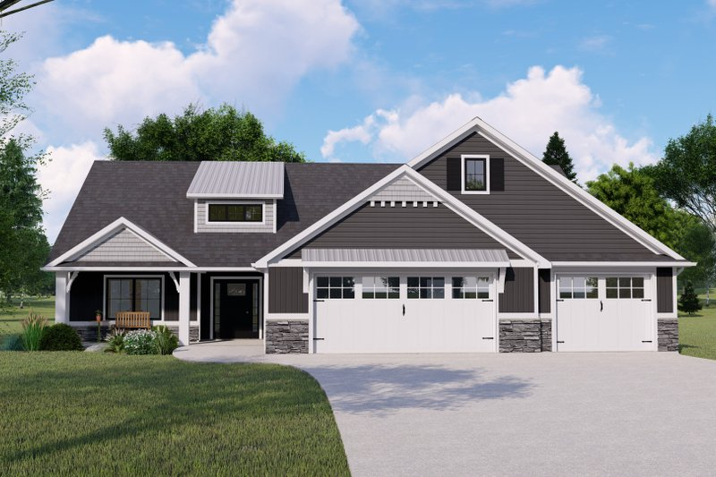 House Design - Farmhouse Exterior - Front Elevation Plan #1064-151