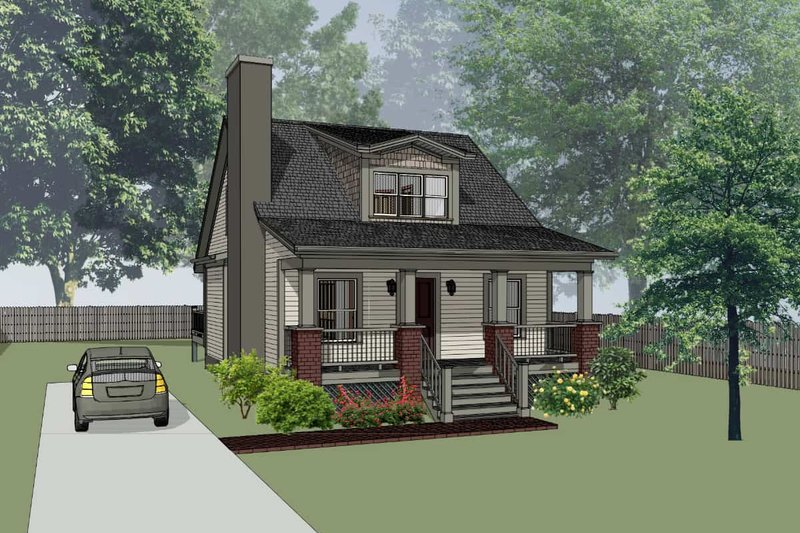 Cottage Style House Plan - 3 Beds 2 Baths 1213 Sq/Ft Plan #79-141 Exterior - Front Elevation