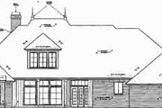 European Style House Plan - 3 Beds 2.5 Baths 2720 Sq/Ft Plan #310-272 Exterior - Rear Elevation