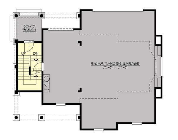 Country Floor Plan - Main Floor Plan Plan #132-190