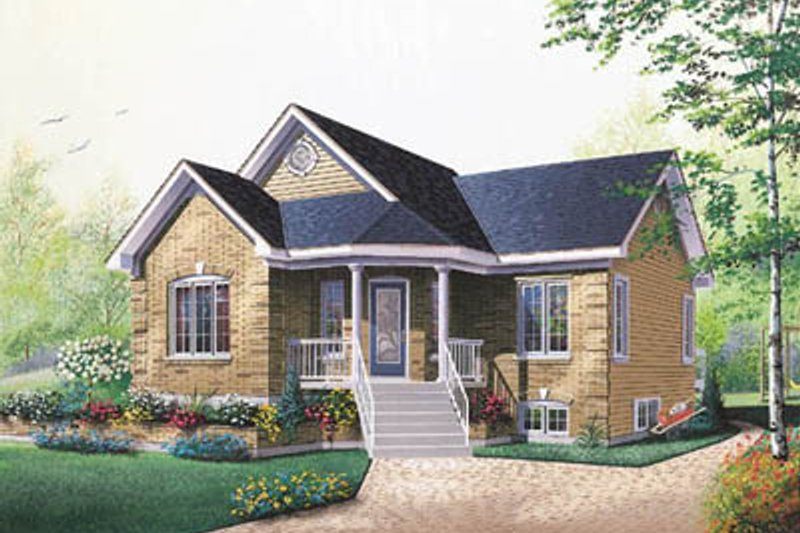 Home Plan - Traditional Exterior - Front Elevation Plan #23-186